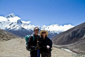Trek to Everest base camp with my family, not foolish or fit enough to try to summit this monster.
