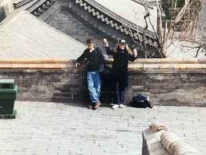 Nik Michaud and I outside the Temple of Heaven in Beijing, 1999.